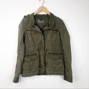 Levi's Army Green Olive Military Utility Jacket